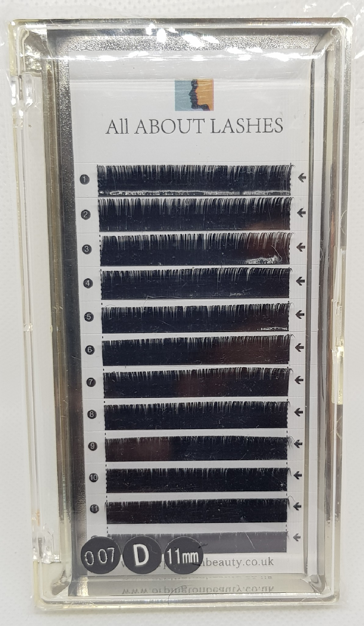 All About Lashes D Curl 0 07mm Russian Volume 11mm